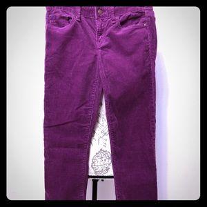 Gap Real Straight Corduroy Size 25 Raisin Red Jean